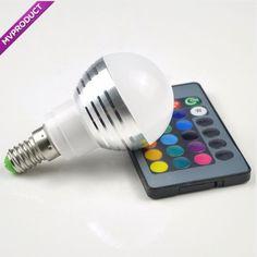 Led Night Light, Light Bulb, Color Magic, Stage Lighting, Remote, Key, Geeks, Holiday, Bulb Lights