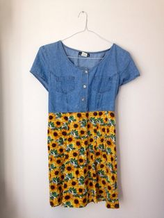 Carol can you make this for me!?!?!? My birthday is coming up!! Vintage Denim Sunflower Dress