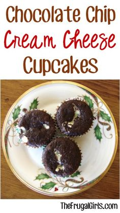 Chocolate Chip Cream Cheese Cupcakes Recipe! ~ from TheFrugalGirls.com ~ these cupcakes are so crazy good... and yes ~ completely addictive!! #cupcake #recipes #thefrugalgirls