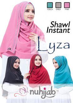 IDR. 103.500 Bahan: Original Diamond Italiano Strech, Panjang: 180cm, Lebar: 70cm, Model Hijab: Shawl, Aksen: Lis Tumpuk