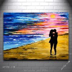 Восход-любовь-пара-на-пляже-океан-лето-оригинальные-картины-маслом-Malorcka-холст-художественной-фотографии-для-фото.jpg (750×750)