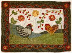 http://www.designsinwool.com/images/Rugs/Animals/ChickensonHoliday.JPG