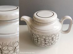 Items similar to Individual Hornsea Pottery Charisma pattern: teapot (tea pot), coffee pot, sugar bowl, salt & pepper shakers (pots) / / mint on Etsy Hornsea Pottery, Tea Pots, Unique Jewelry, Tableware, Handmade Gifts, Pattern, Etsy, Vintage, Kid Craft Gifts