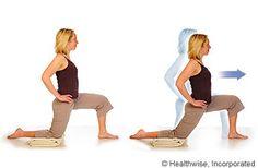 Picture of how to do hip flexor stretch, kneeling