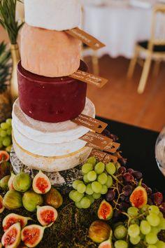 Cheesecake anyone? Photo by Benjamin Stuart Photography #weddingphotography #cheesecake #weddingcake #cheese #cheesedisplay