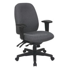 Office Star Ergonomic High-Back Desk Chair Upholstery: Diamond - Jet
