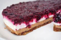 s chia semínky Perfect Cheesecake Recipe, Vegan Cheesecake, Vegan Cake, Cheesecake Recipes, Healthy Cake, Healthy Sweets, Healthy Baking, Raw Food Recipes, Sweet Recipes