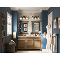 Shop allen + roth Ballantyne Mocha with Ebony Glaze Traditional Bathroom Vanity (Common: 60-in x 21-in; Actual: 60-in x 21-in) at Lowes.com