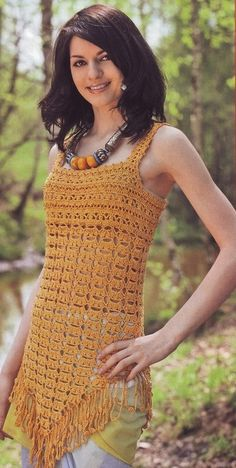 Uncinetto d'oro: La tunica di pizzo!  free pattern