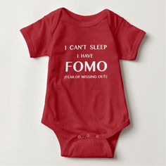 Baby Can't Sleep : Fear of Missing Out : FOMO #fomo #babyclothes #onesies