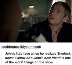 I remember when this was one of the worst thing that had happened on Sherlock... now things have become a little more extreme