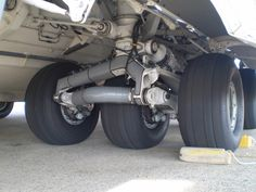 landing gear   The landing gear of the C-17. I am barely bent over in this picture.