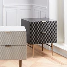 West Elm offers modern furniture and home decor featuring inspiring designs and colors. Create a stylish space with home accessories from West Elm. Bedroom Furniture, Modern Furniture, Furniture Design, Bedroom Decor, Gray Furniture, Furniture Storage, Modern Bedside Table, Bedside Tables, Small Apartment Bedrooms