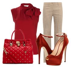 """Work Attire #3"" by hazelhunnie30 ❤ liked on Polyvore featuring MaxMara, Giuseppe Zanotti and MICHAEL Michael Kors"