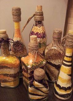 HappyModern.RU   Декор бутылок своими руками (85 фото): создаем эксклюзивные украшения интерьера   http://happymodern.ru