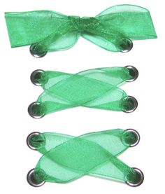 "5/8"" Emerald Organza Ribbon Shoelaces ✿ Our beautiful ribbon shoelaces make your ordinary shoes look extraordinary ✿"