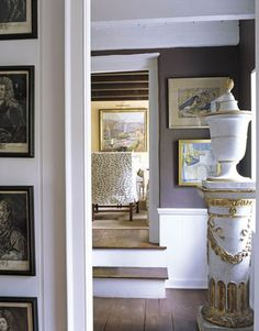 High contrast in the foyer: 'Iron Mountain' by Benjamin Moore by xJavierx, via Flickr