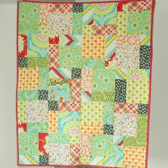 easy baby quilt pattern - love the fabric.