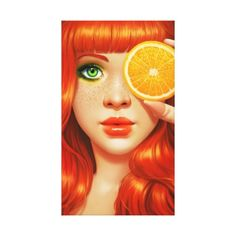 Red Orange by Daniela Uhlig. I know this is an illustration, but I'm digging the thought of orange hair! Pin Up, Art Photography, Street Photography, Orange You Glad, Arte Pop, Urban Art, Digital Illustration, American Illustration, Redheads