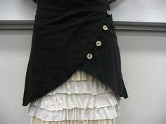 Cute overskirt diy.  Link for ruffle skirt plus overskirt tutorial