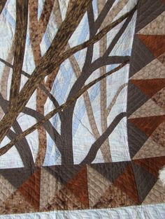 Detail of Tim Latimer's quilt. Beautiful hand quilting