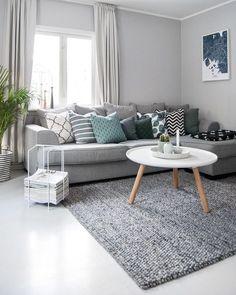45 amazing gorgeous living room color schemes to make your room cozy 21 - Home Design Ideas Living Room Carpet, Home Living Room, Living Room Decor, Living Room Tables, Living Room Color Schemes, Living Room Designs, Living Room Inspiration, Room Colors, Interior Design