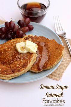 Brown Sugar Oatmeal Pancakes on MyRecipeMagic.com