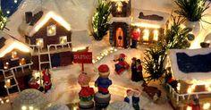 Cómo realizar una plataforma de pueblo navideño