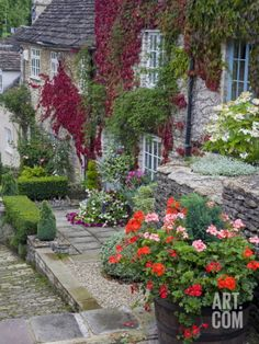 Cottage on Chipping Steps, Tetbury Town, Gloucestershire, Cotswolds, England, United Kingdom Photographic Print