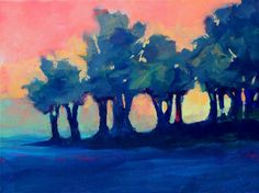 UGallery. Tree Line Sunset by Nancy Merkle