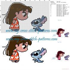 Lilo et Stitch grille point de croix