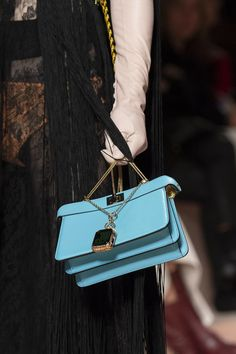 Fendi at Milan Fashion Week Fall 2020 - Details Runway Photos Patchwork Bags, Quilted Bag, Fashion Week, Runway Fashion, Milan Fashion, Fashion 2020, Leather Accessories, Handbag Accessories, Fashion Handbags
