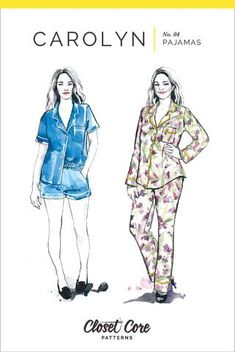 Carolyn Pajamas Sewing Pattern – Closet Core Patterns
