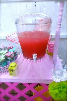 love the mini tutu drink dispenser...