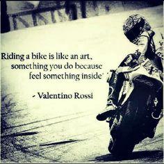 #riding a #bike is #like an #art something you do b/c you feel something #inside #LetsGetWordy