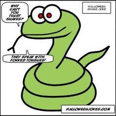 Scary Halloween Snake Joke