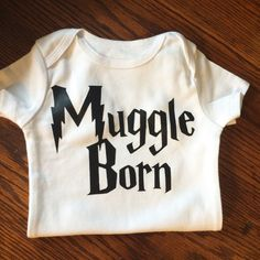 Muggle Born Onesie  Harry Potter Onesie by JamieVanNuysDesigns