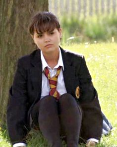 """A """"tie"""" score - Nine years ago this week, Jenna Coleman was channeling her inner """"tough girl"""" as she took on the role of troubled student Lindsay James in BBC One's Waterloo Road. Although Jenna was. School Girl Outfit, Girl Outfits, Celebrities In Stockings, Waterloo Road, Cute School Uniforms, Plus Size Cocktail Dresses, Soft Gamine, Girls In Mini Skirts, Tough Girl"""