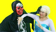 Zombie Spiderman vs  Frozen Elsa, Pinks Spidergirl Maleficent Joker Supe...