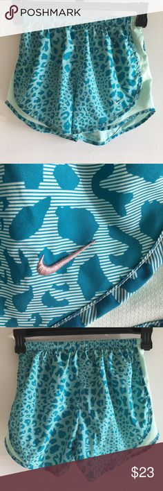 💪🏽🏋🏻♀️🏃🏻♀️Nike Tempo Dri Fit Running Short EUC Well cared for, no stains or damage. Super cute turquoise leopard print. I guess if you have to workout why not be the cutest?! Nike Shorts