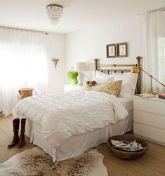 white-bedroom-cowhide-rug