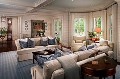 Walls and woodwork, Creamy by Sherwin Williams Sage Living Room, Home And Family, Woodworking, Couch, Interior Design, Classic, Furniture, Coastal, Walls