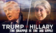 Trump vs Hillary: The Grapple in The Big Apple