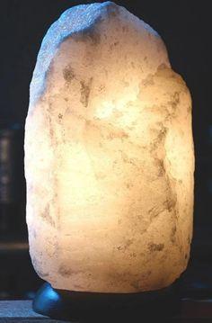 White Himalayan salt lamps kg White Himalayan Salt Lamp, Pink Salt Lamp, Lamps, Decor Ideas, Lightbulbs, Light Fixtures, Lights, Rope Lighting, Lanterns