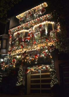 Decorated for Christmas in San Francisco ~