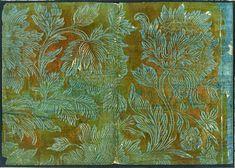 Papeles Decorados: Técnicas tradicionales y creación artística contemporánea. : PAPELES CALCOGRÁFICOS (GOFRADOS) / BROCADE PAPERS