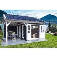 Pool House Shed, Pool Houses, Backyard Bar, Backyard Sheds, Bbq Shed, Shed Landscaping, Small Pool Design, She Sheds, Bunkhouse