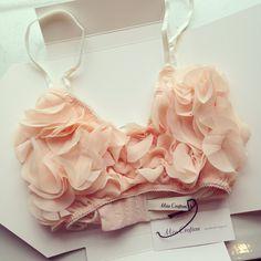 Miss Crofton 'Blush' peach bra  www.misscrofton.com