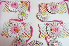 Rosette Banner/ Holiday Easter Paper Rosette by valburgesscollage, $20.00