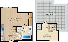 Studio Loft Apartment Floor Plans Allegro Apartments